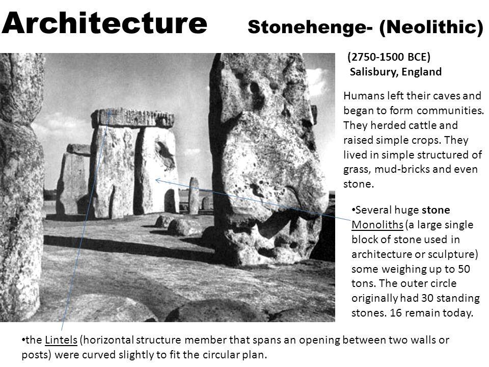 Architecture Stonehenge- (Neolithic)