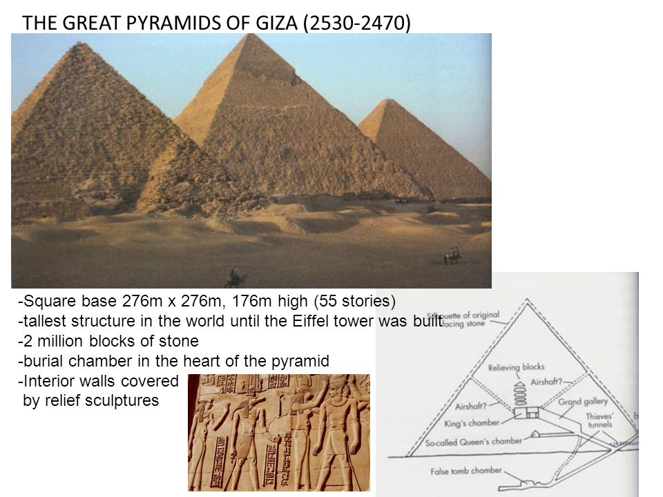 THE GREAT PYRAMIDS OF GIZA (2530-2470)