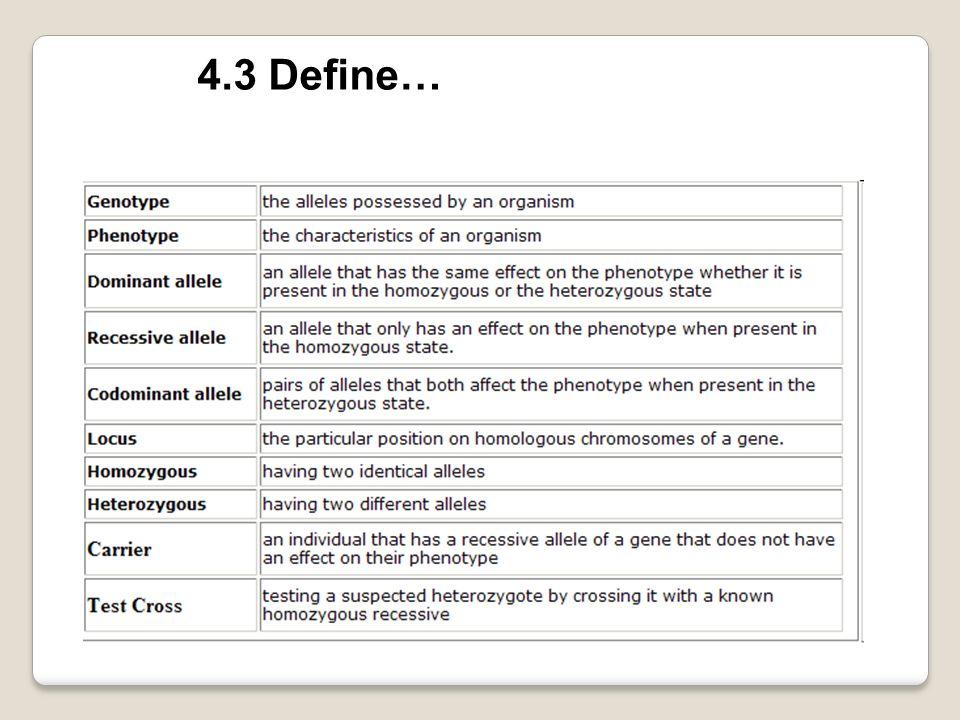 4.3 Define…