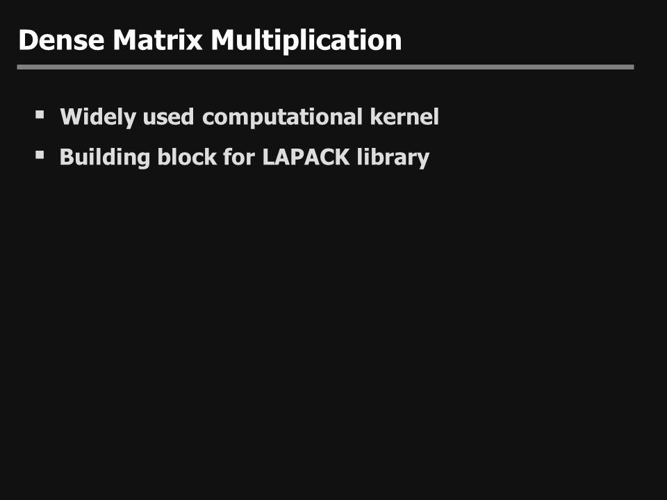 Dense Matrix Multiplication