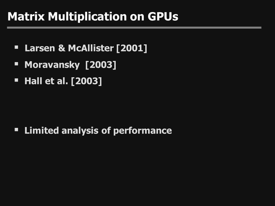 Matrix Multiplication on GPUs