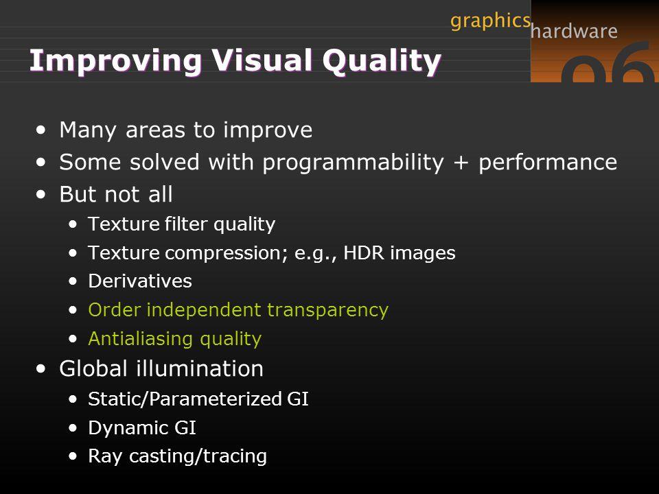Improving Visual Quality