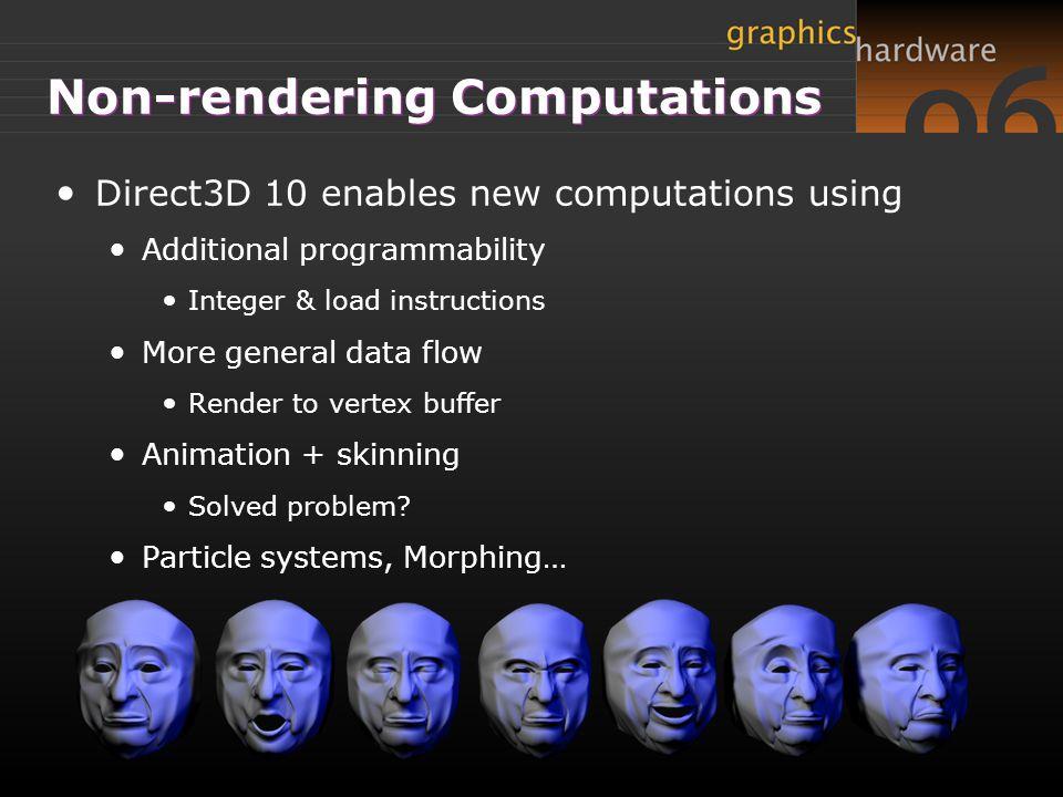 Non-rendering Computations
