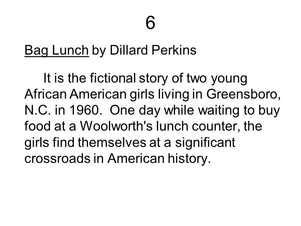6 Bag Lunch by Dillard Perkins
