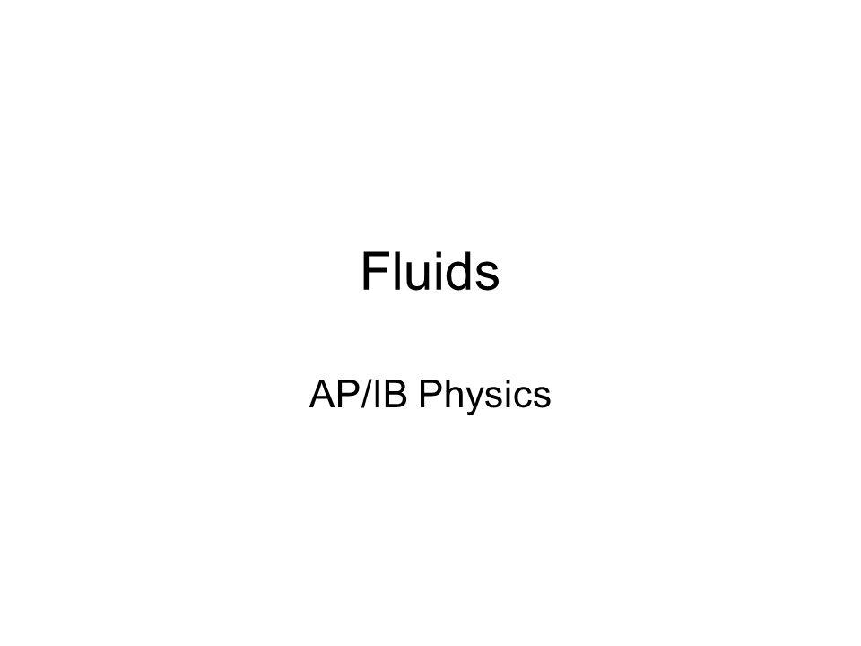 Fluids AP/IB Physics