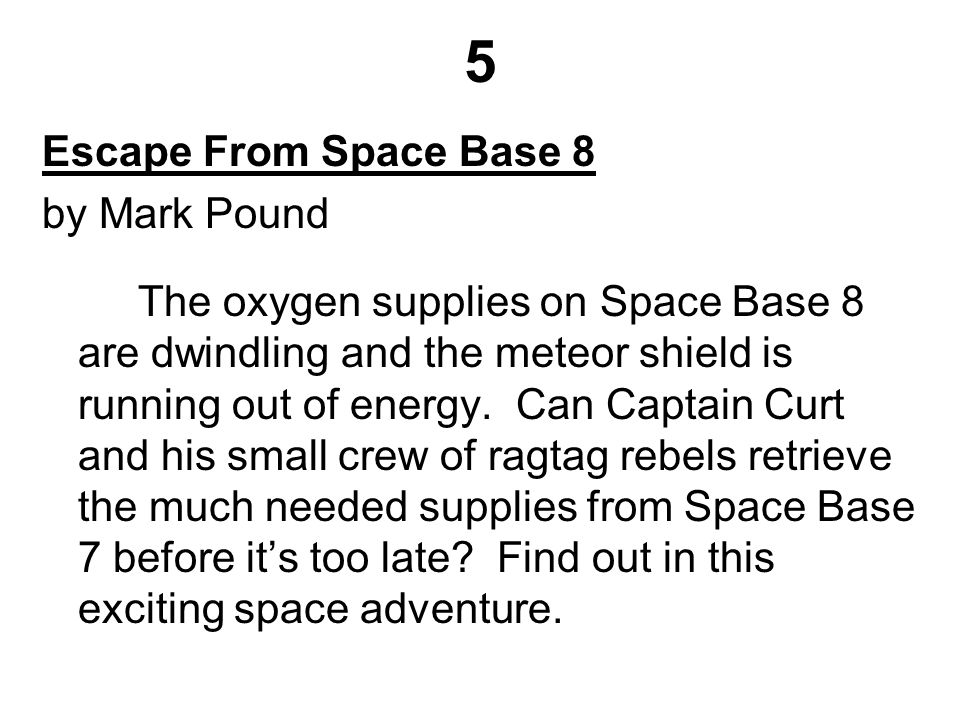 5 Escape From Space Base 8 by Mark Pound