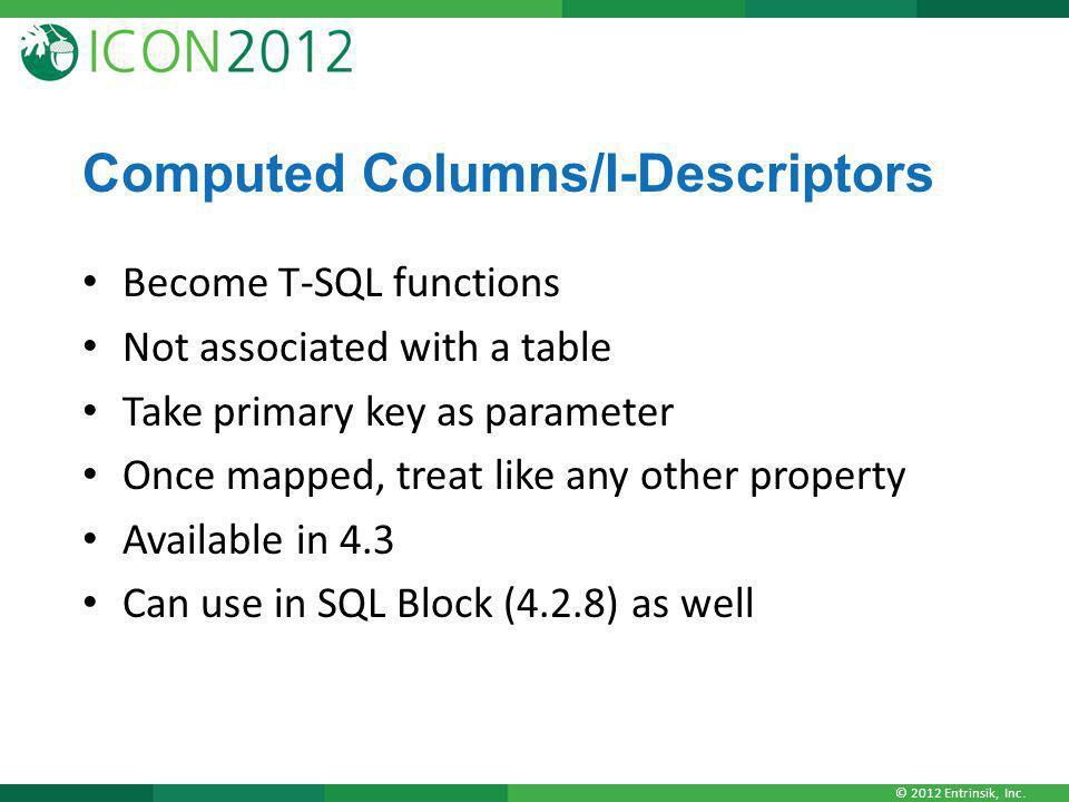 Computed Columns/I-Descriptors