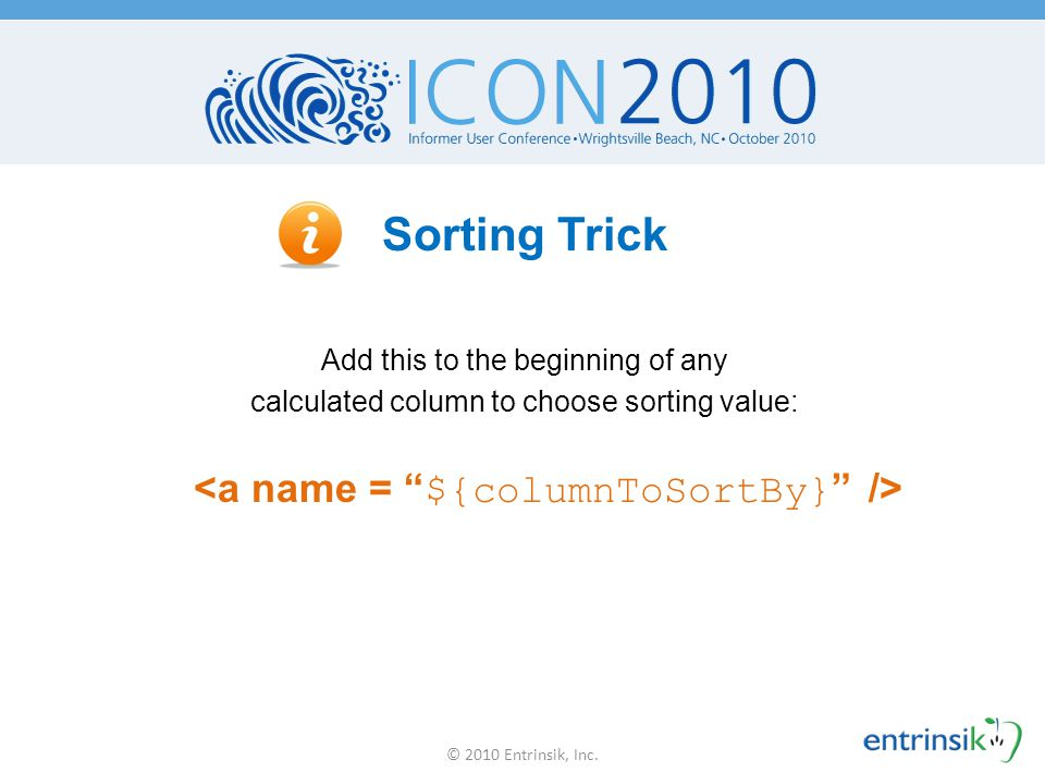 Sorting Trick <a name = ${columnToSortBy} />