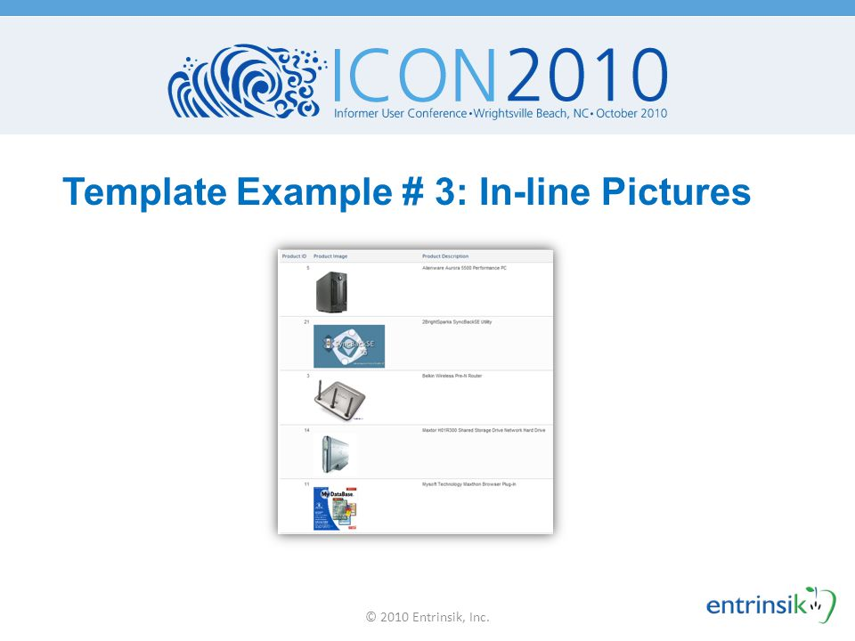 Template Example # 3: In-line Pictures