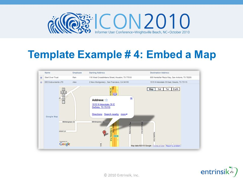 Template Example # 4: Embed a Map