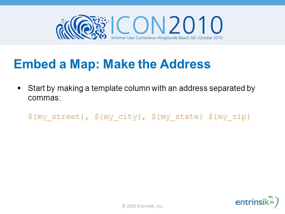 Embed a Map: Make the Address