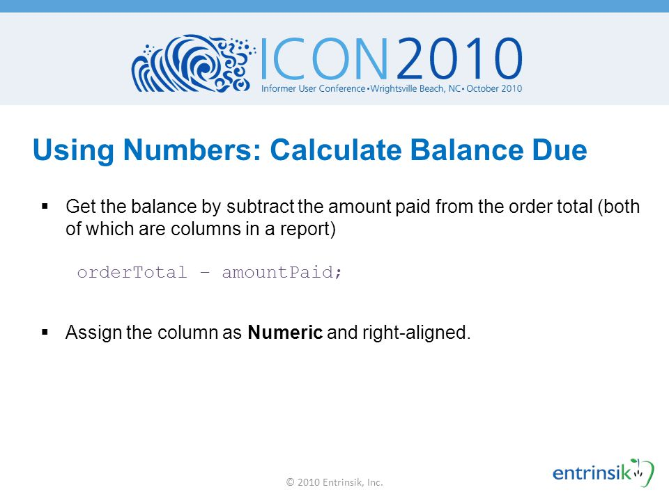 Using Numbers: Calculate Balance Due