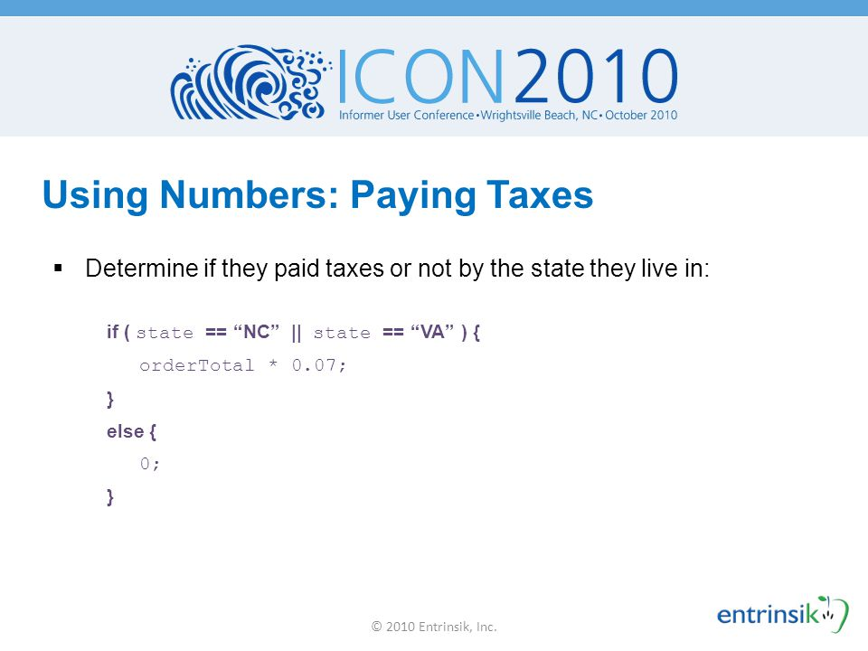 Using Numbers: Paying Taxes