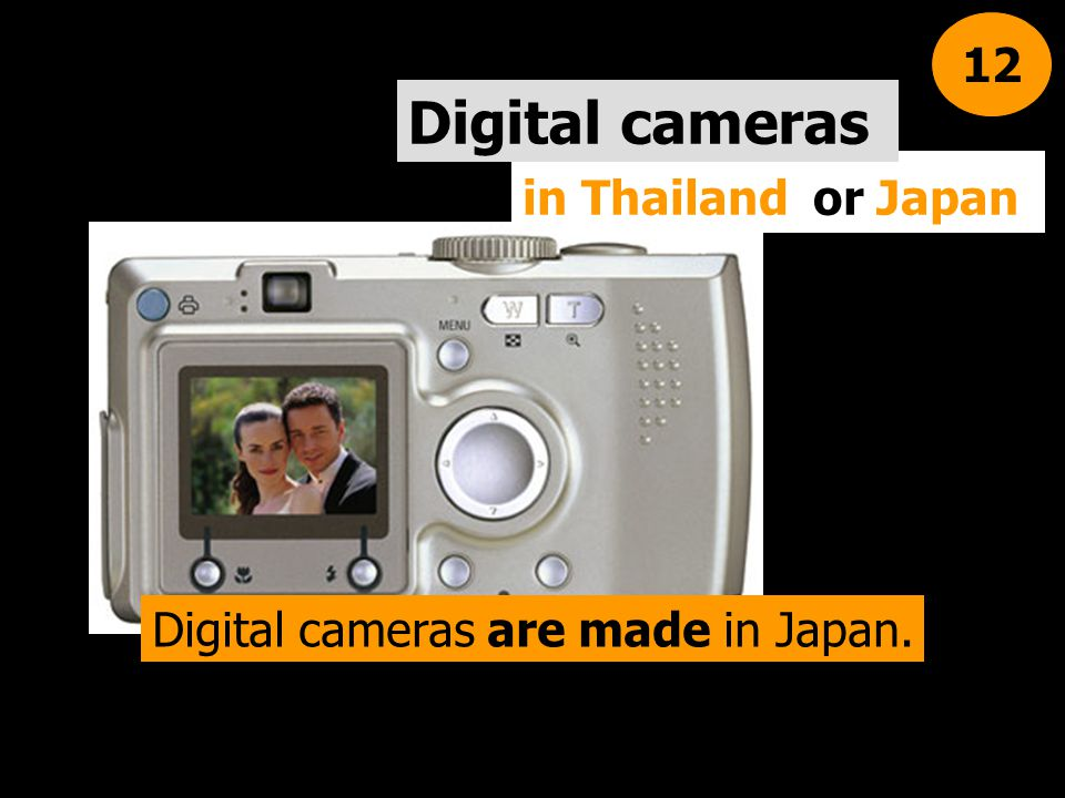 Digital cameras are made in Japan.