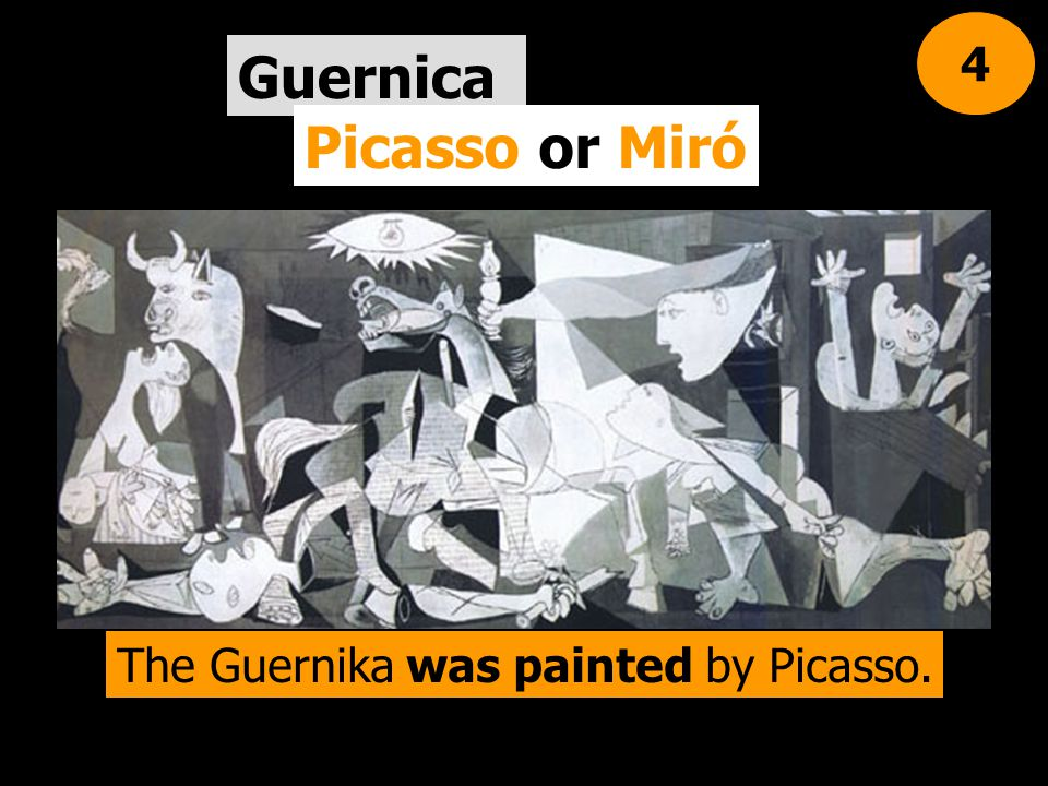 The Guernika was painted by Picasso.