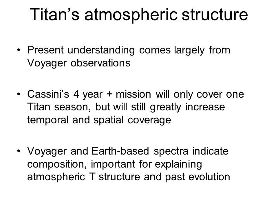 Titan's atmospheric structure