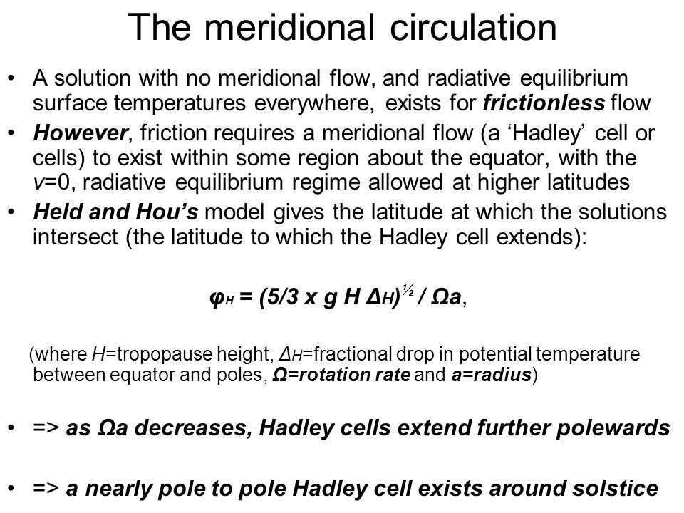 The meridional circulation