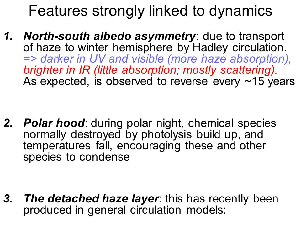 Features strongly linked to dynamics