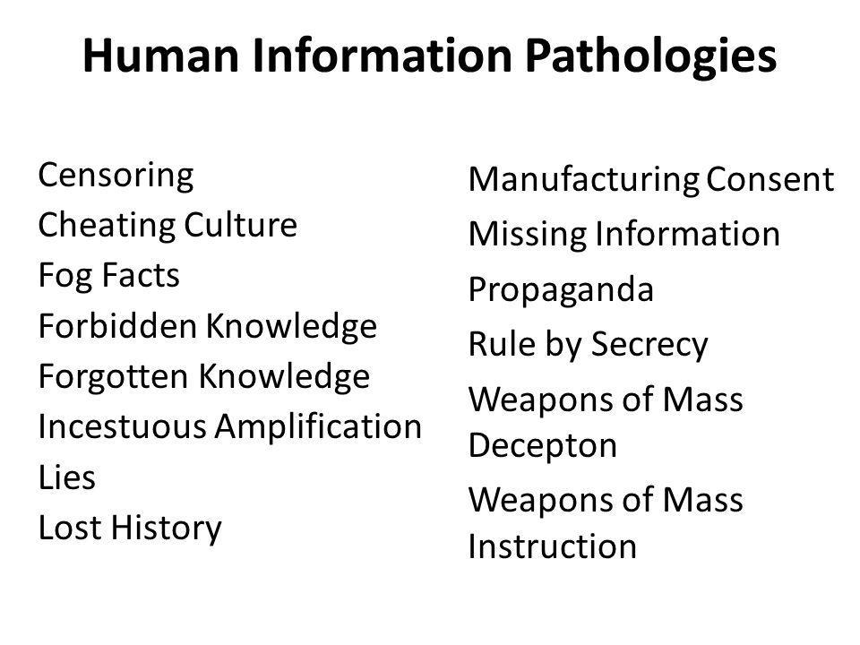 Human Information Pathologies