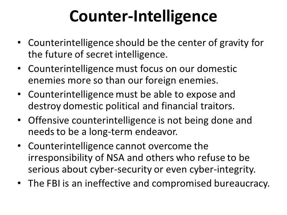 Counter-Intelligence