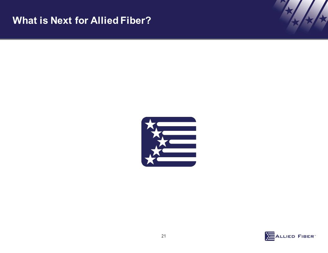 What is Next for Allied Fiber