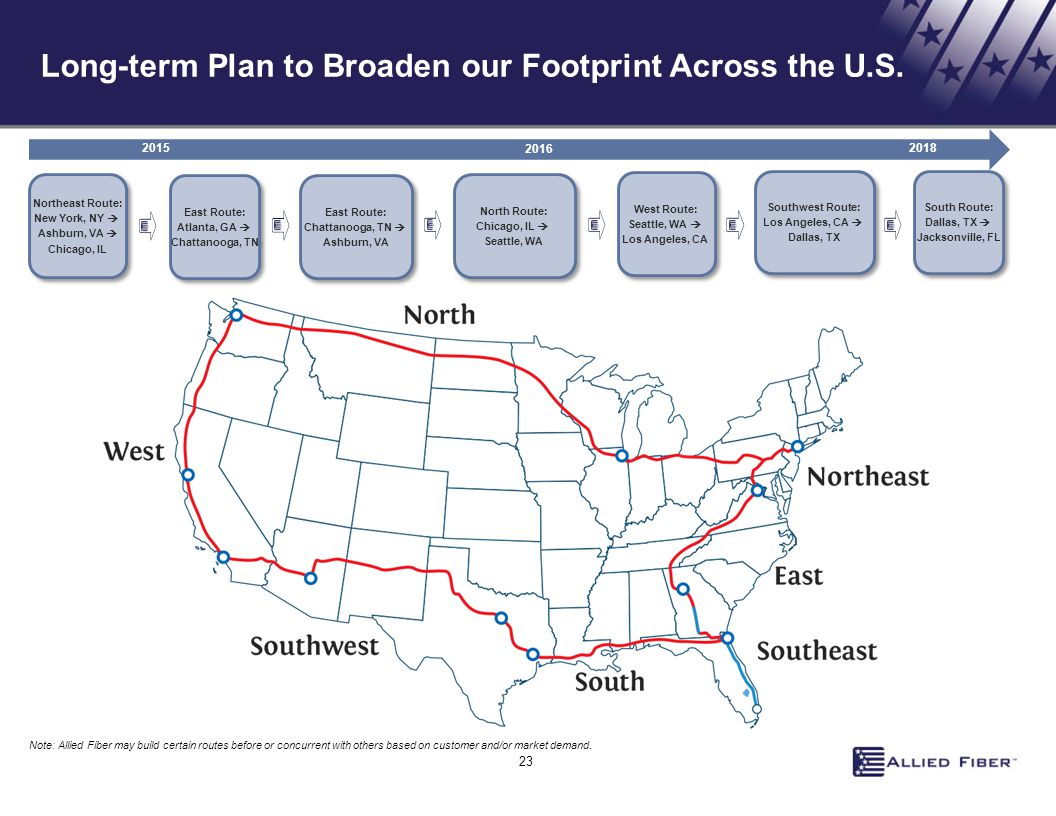 Long-term Plan to Broaden our Footprint Across the U.S.