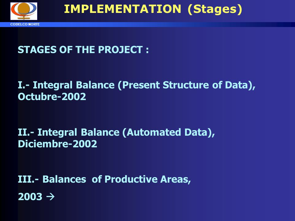 IMPLEMENTATION (Stages)