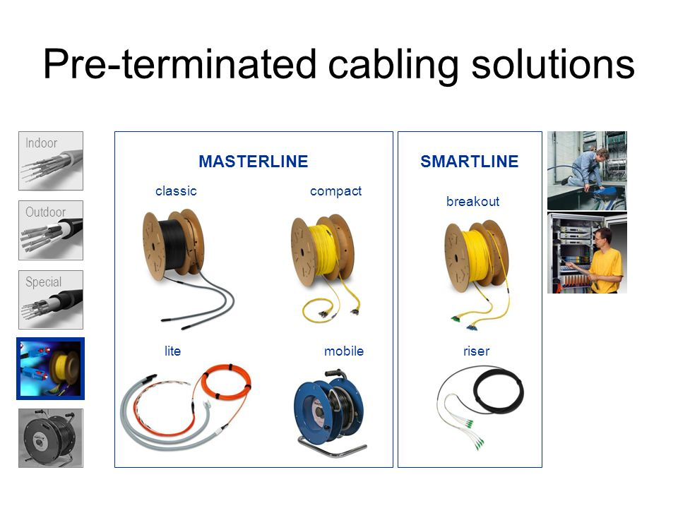 Pre-terminated cabling solutions