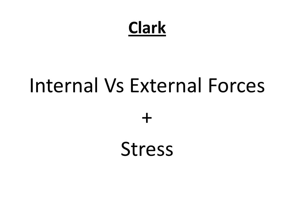 Internal Vs External Forces + Stress