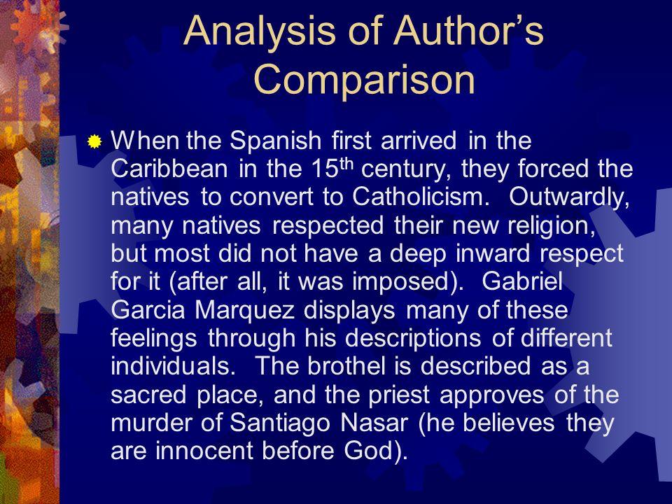 Analysis of Author's Comparison