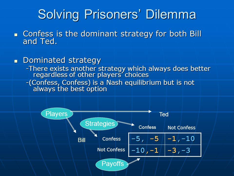 Solving Prisoners' Dilemma