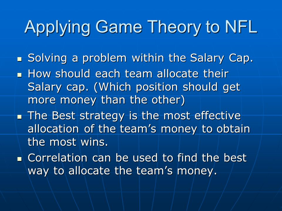 Applying Game Theory to NFL