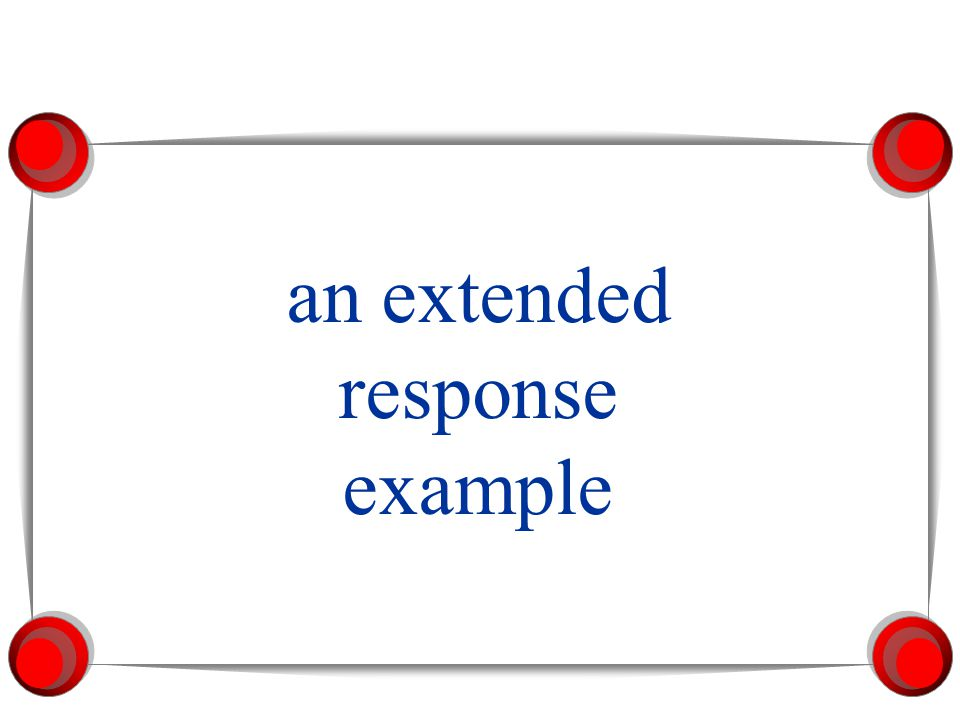 an extended response example