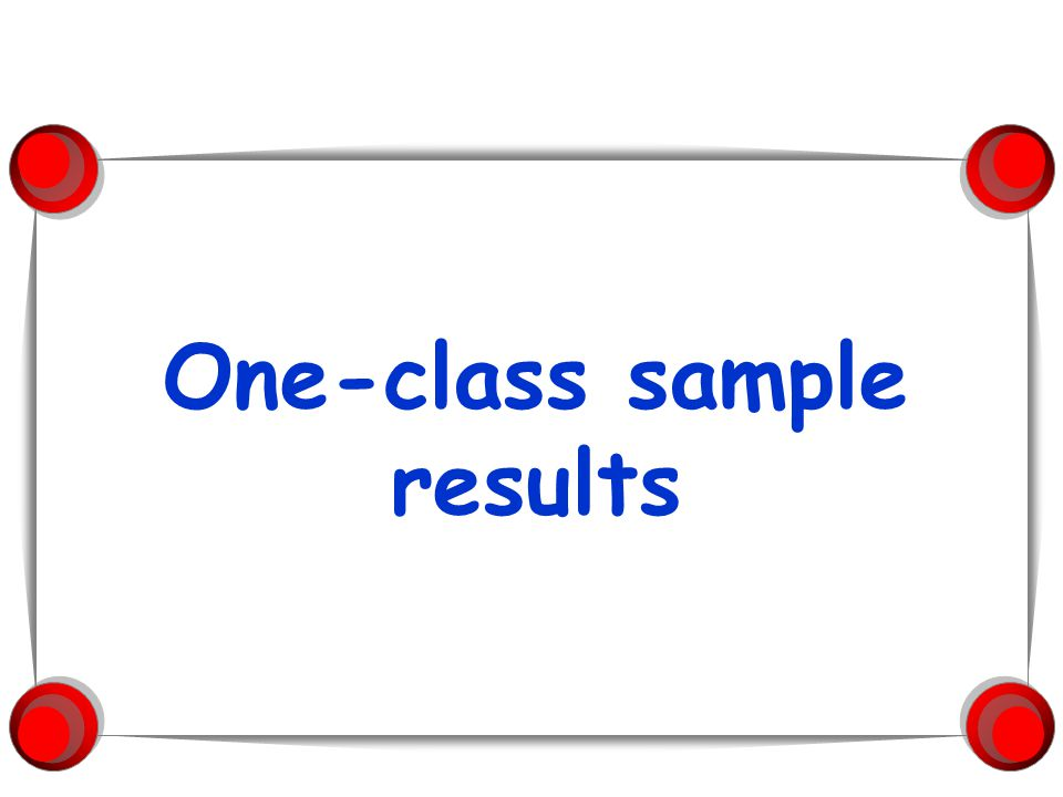 One-class sample results