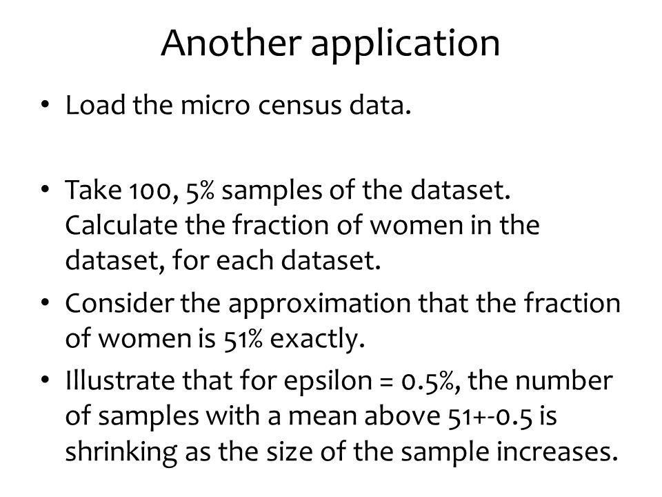 Another application Load the micro census data.