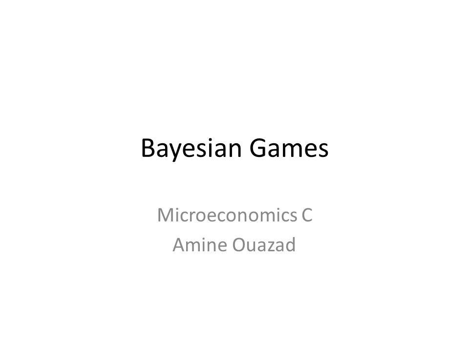 Microeconomics C Amine Ouazad