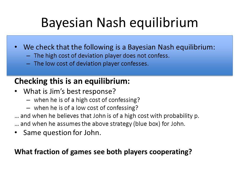 Bayesian Nash equilibrium
