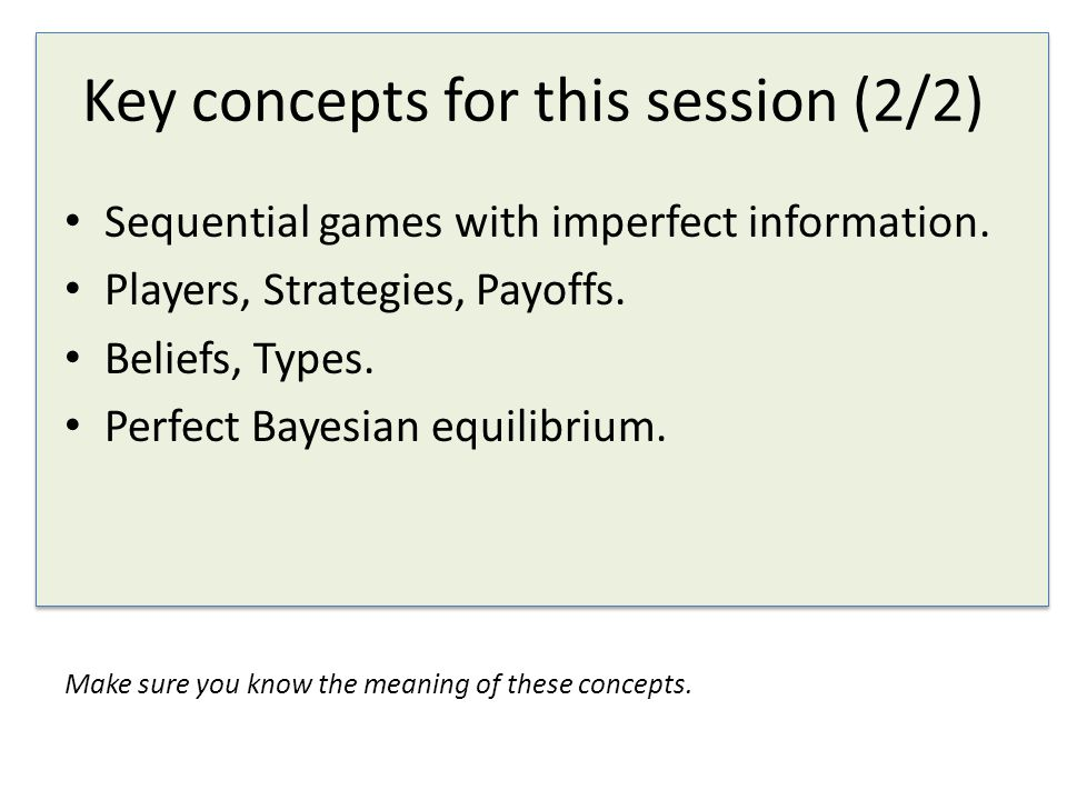 Key concepts for this session (2/2)