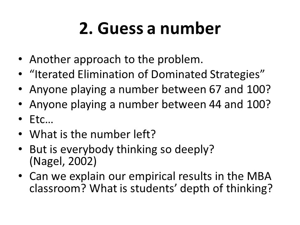 2. Guess a number Another approach to the problem.