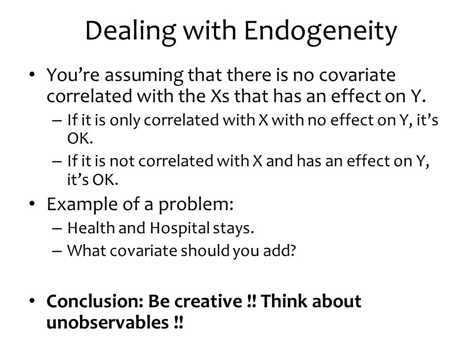 Dealing with Endogeneity