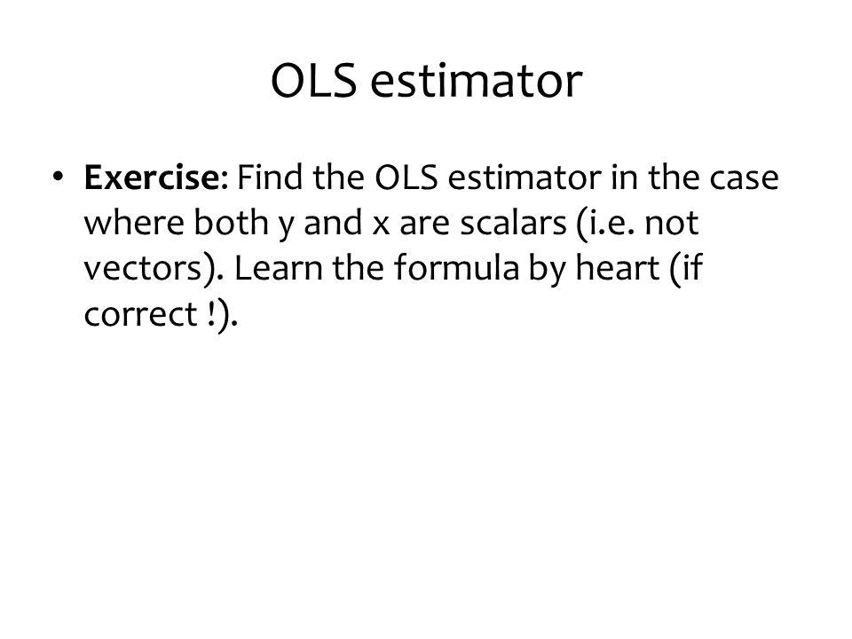 OLS estimator