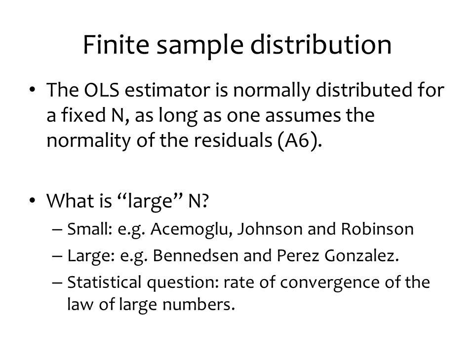 Finite sample distribution