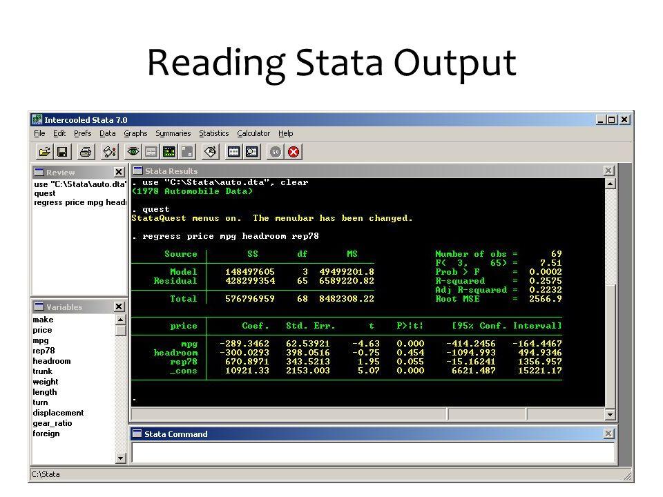 Reading Stata Output