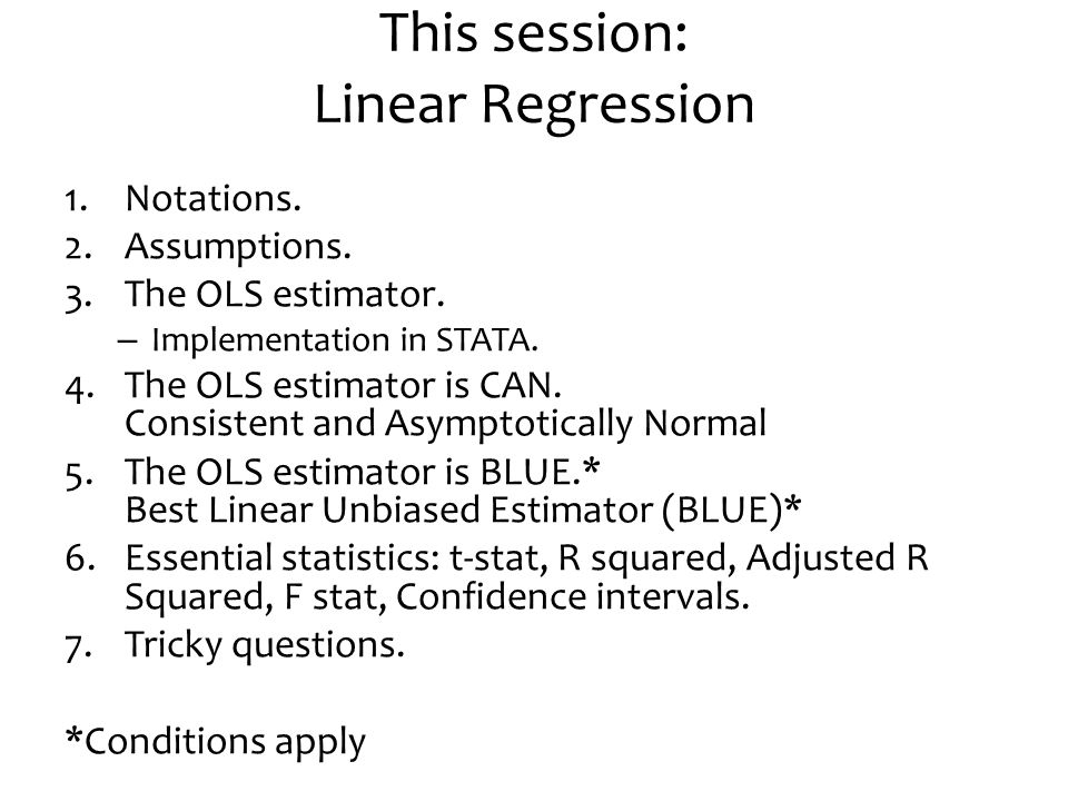 This session: Linear Regression