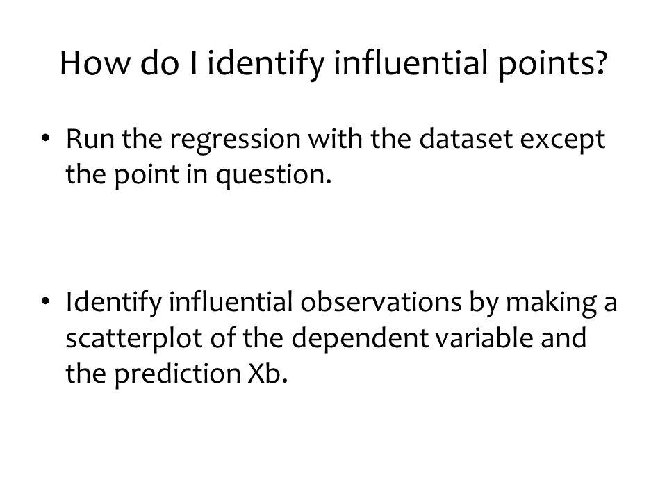 How do I identify influential points