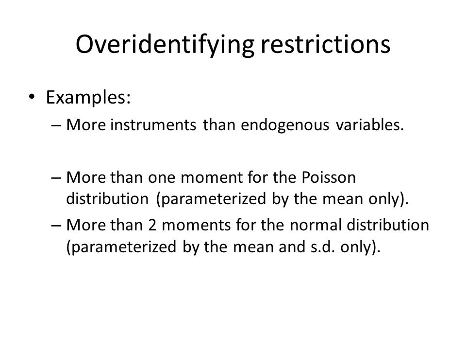 Overidentifying restrictions