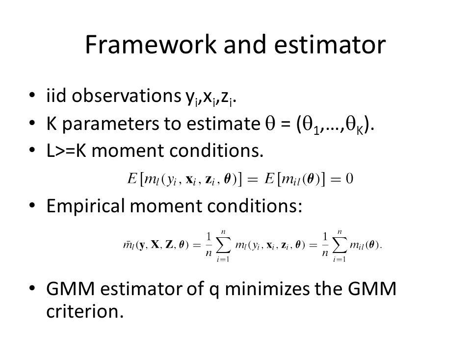 Framework and estimator