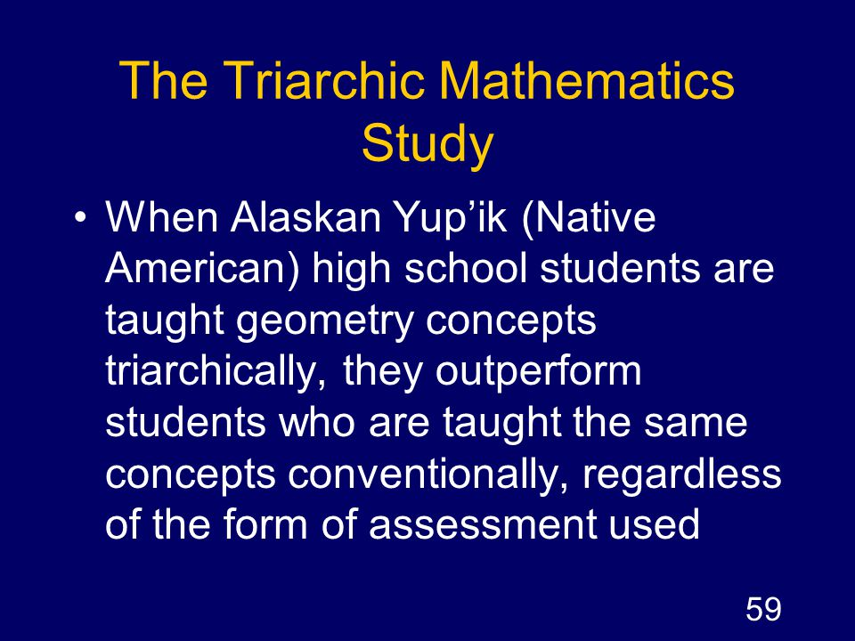 The Triarchic Mathematics Study