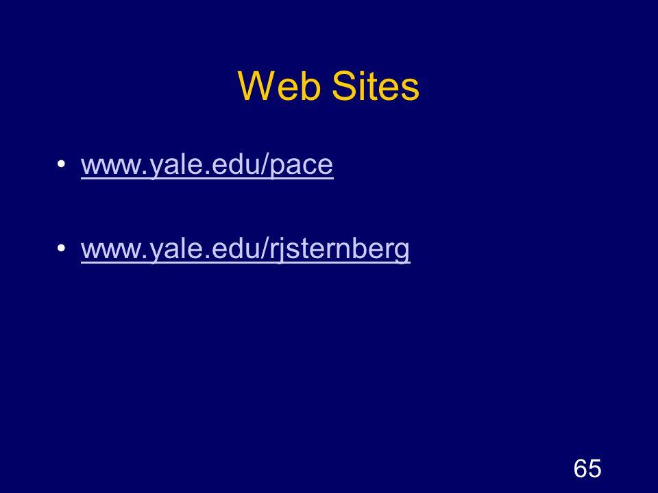 Web Sites www.yale.edu/pace www.yale.edu/rjsternberg
