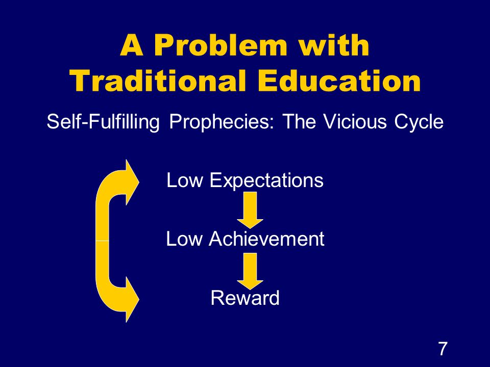 A Problem with Traditional Education